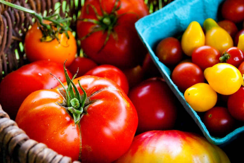 Heirloom tomatoes from A Place at the Table CSA