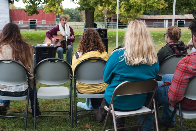 Jessie Erickson performs at the Fall Festival.